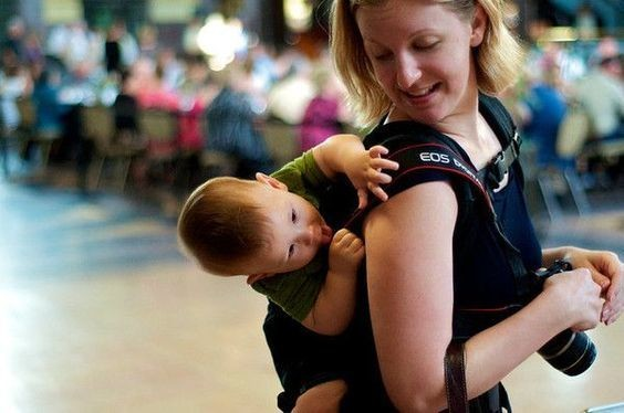 Wear your little one through security