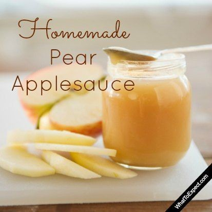 Make homemade pear applesauce