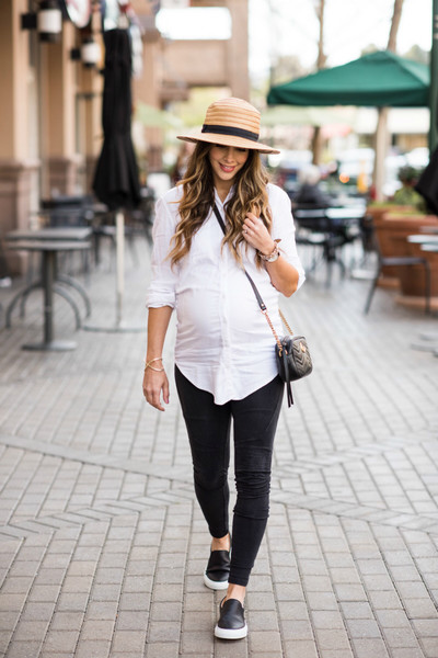 Combine Cute Button Down And Sneakers