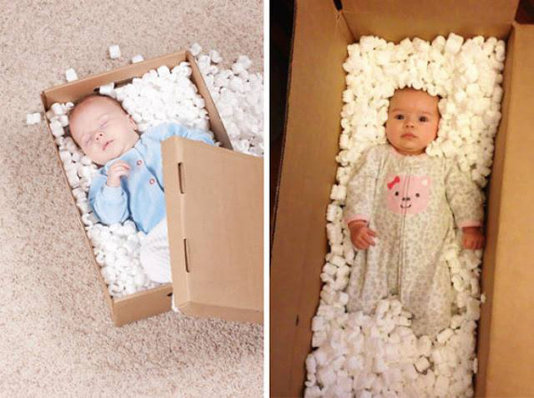Baby In A Box - The Funniest Baby Photoshoot Fails Ever - Mabel + Moxie