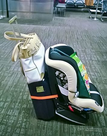 Tether your car seat to your luggage