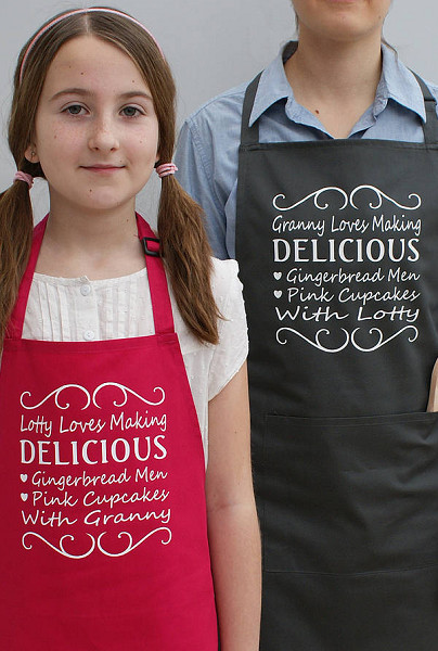 Personalized Granny And Me Apron Set